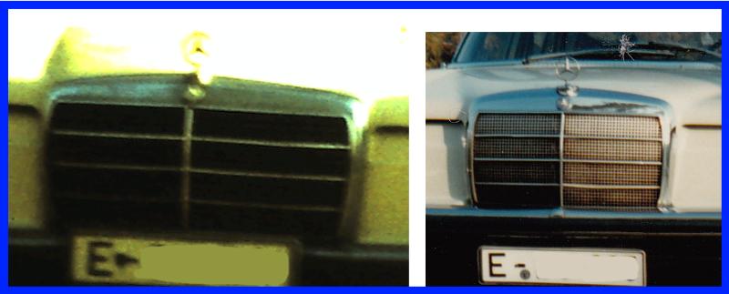 Unterschied der Kühlermaske W115 Mopf Null zu Mopf 1,5