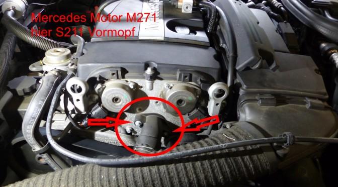Position Kühlmittel Thermostat Motor M271 Mercedes Benz