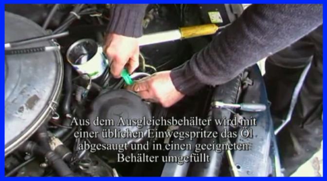 Wechsel des Hydraulik Oel  der Servo Lenkung