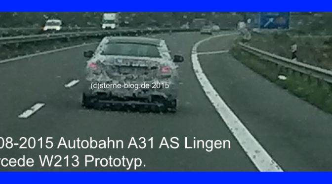 Mercedes W213 Erlkönigfoto vom 17-08-2015