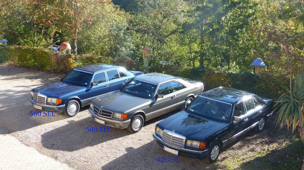 Mercedes Facelift S-Klasse W222 erinnert an die legendären 560 SEL der Baureihe W126 aus den 80iger jahren