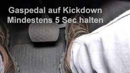 Mercedes 5 Gang Automatikgetriebe reset Schritt 2