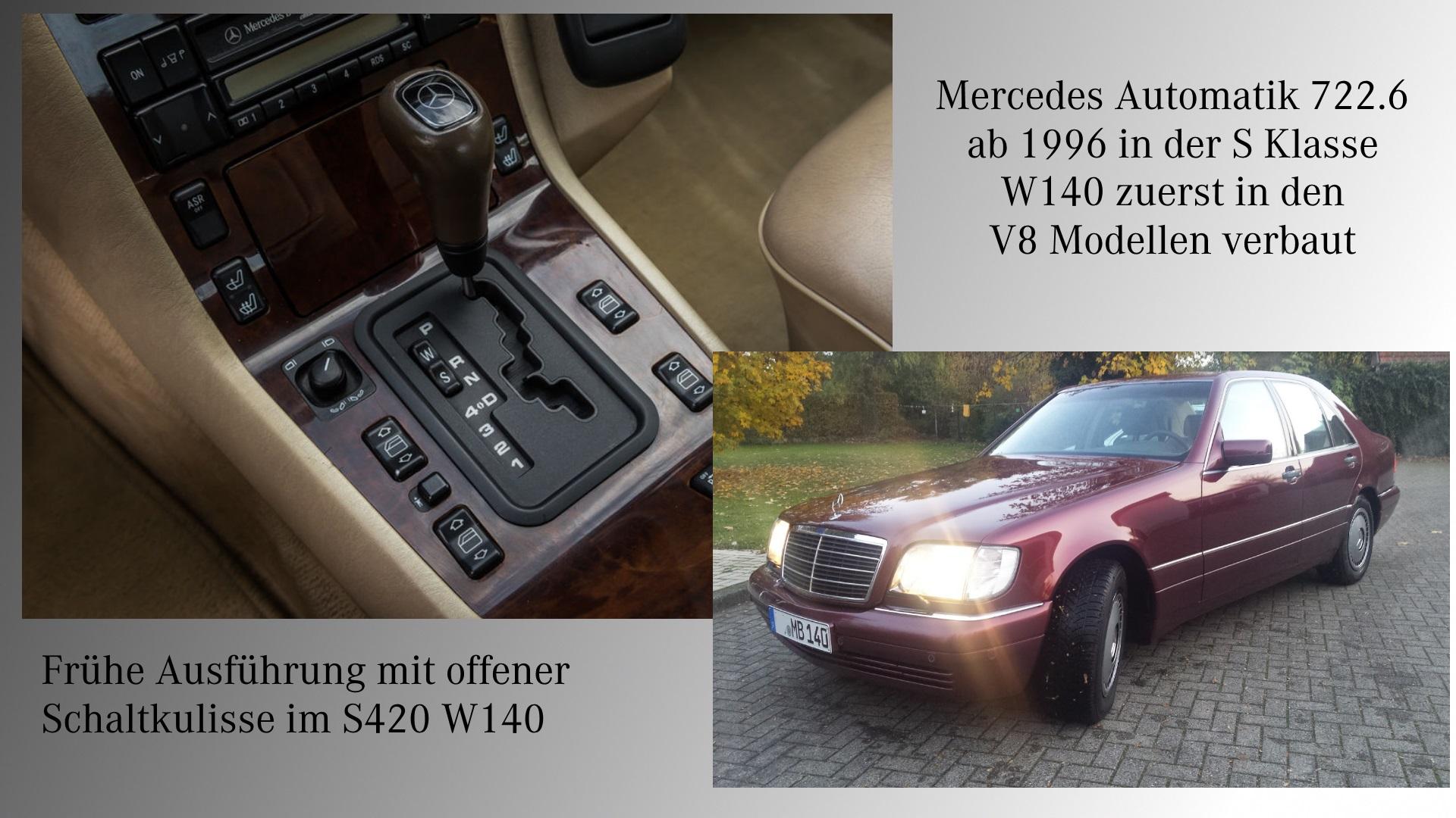 Mercedes 5G Automatikgetribe im W140 ab Bjj 1996