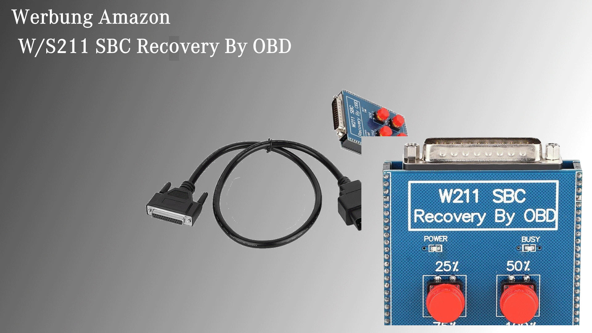 Mercedes W211 SBC Recovery by OBD